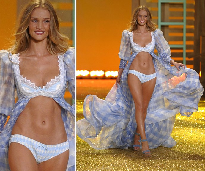 Brit beauty Rosie Huntington-Whiteley made her debut in 2006, and although she is no longer an Angel, the super-strutter still has a killer VS bod!
