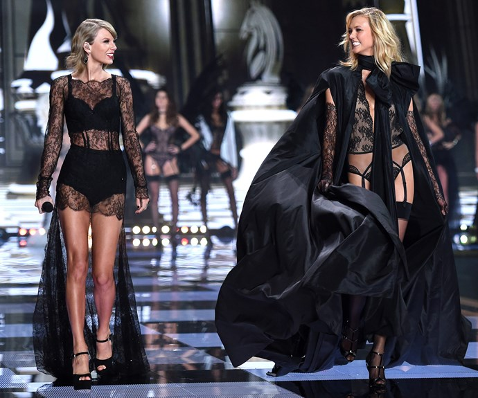 Honourable mentions must be given to resident VS performer Taylor Swift and her model BFF Karlie Kloss, who owned the runway in 2014.