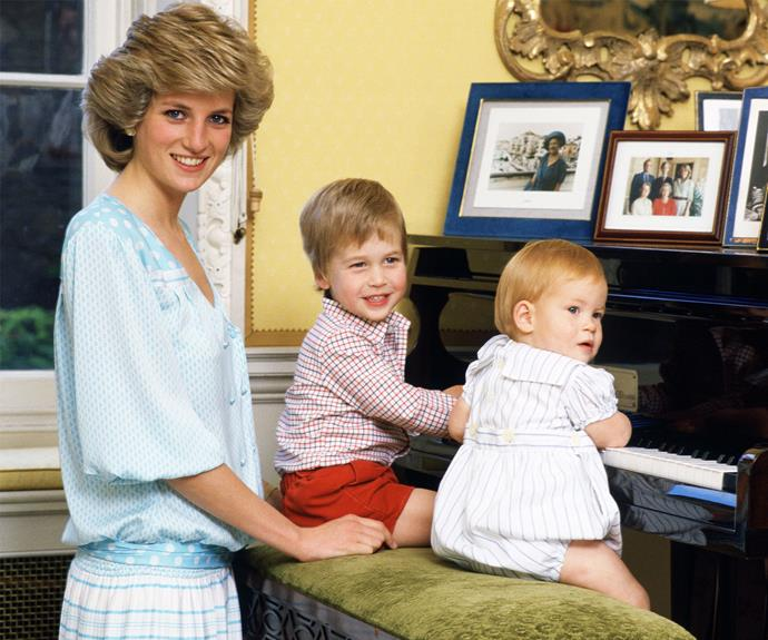 "Princess Diana once said of her beloved children: ""I live for my sons. I would be lost without them."""