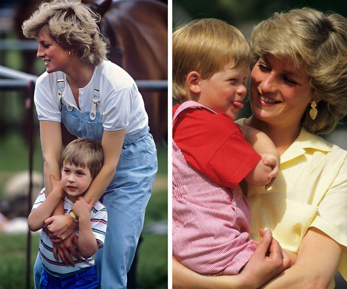 """Diana's boys never felt unloved. """"I think the biggest disease the world suffers from in this day and age is the disease of people feeling unloved. I know that I can give love for a minute, for half an hour, for a day, for a month, but I can give. I am very happy to do that, I want to do that."""""""
