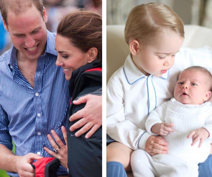 Prince William, Duchess Catherine, Prince Goerge and Princess Charlotte of Camridge