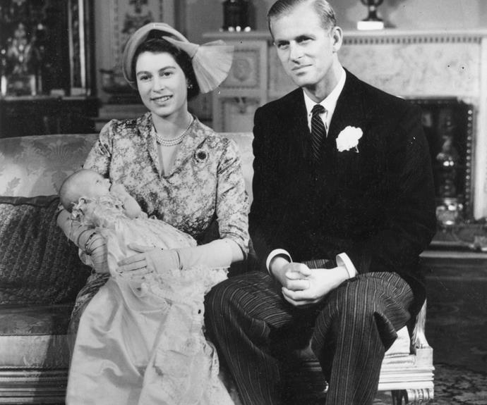 **Princess Anne** <br><br> The Queen and Prince Philip beam following daughter Princess Anne's big day, which was held in the White and Gold Music Room in Buckingham Palace, London in 1950.