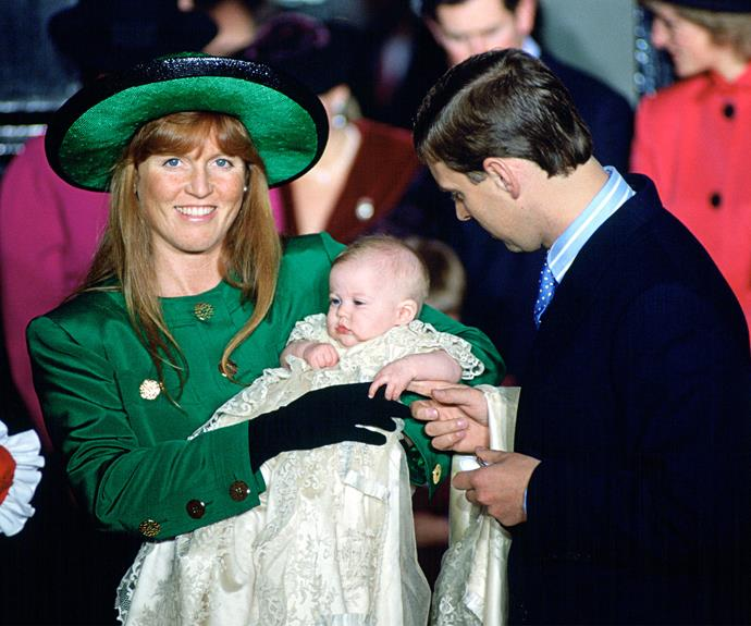 **Princess Beatrice** <br><br> Prince Andrew and Sarah the Duchess of York's oldest child, Princess Beatrice of York, celebrated her christening at the Chapel Royal in St James's Palace on December 20, 1988.