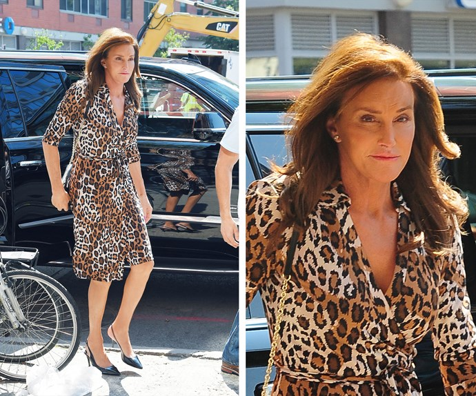 Not everyone can pull off leopard print – unless of course you're Caitlyn! The 65-year-old looks a vision in this eye-catching number which featured a flirty hemline and plunging front.