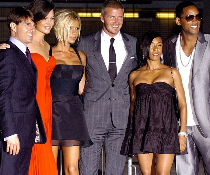 VB and David rub shoulders with Tom Cruise, Katie Holmes, Jada Pinkett Smith and Will Smith during their stint in LA in 2007.