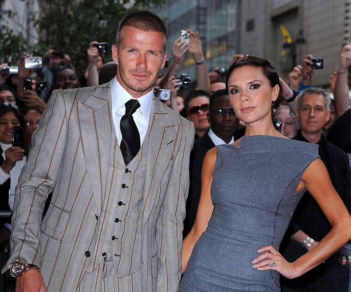 "As their star continues to rise, these two never take themselves too seriously. ""We've got matching dogs, matching watches, similar wardrobes, matching Jags. I know it's tacky, but it makes me laugh,"" Posh has previously told."
