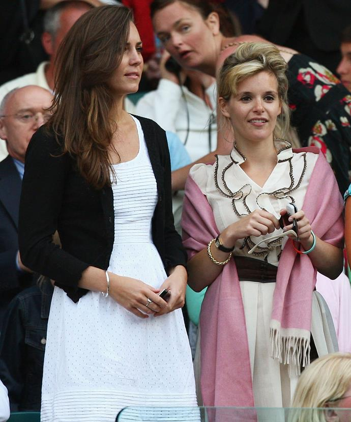 The Duchess of Cambridge and her close friend Sophie Carter in 2008
