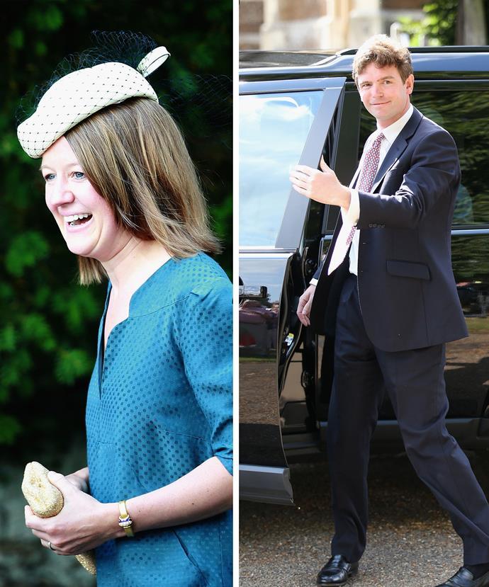 Princess Diana's niece The Hon Laura Fellowes and Prince William's pal James Meade.