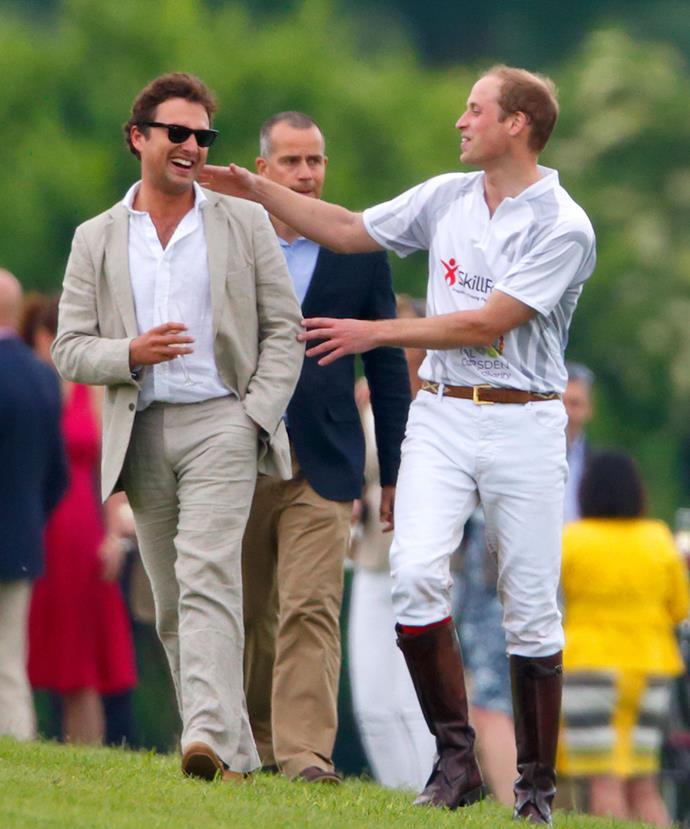 The Duke of Cambridge and his long-time friend Thomas van Straubenzee.