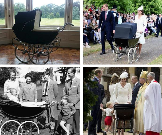 "In a sweet touch, the Millson pram was in fact the same one used by The Queen almost 50 years ago for her two sons Prince Andrew and Prince Edward. ""Princess Charlotte was taken to church today in this Millson pram, previously used for Prince Edward & Prince Andrew,"" Kensington Palace explained via Twitter alongside these comparison shots."