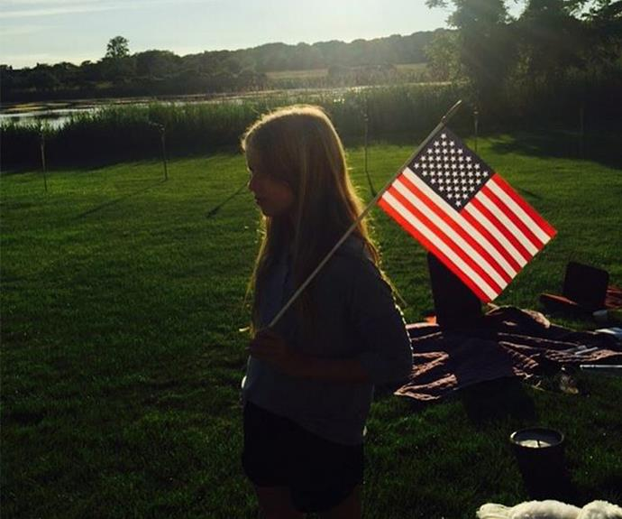Hollywood's kids were out in full force this year! Gwyneth Paltrow tapped into patriotic and maternal side with this beautiful photo of her daughter, Apple.