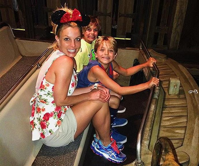 Our favourite Mouseketeer, Britney Spears took her boys to the [happiest place on earth](http://www.womansday.com.au/celebrity/hollywood-stars/the-happiest-place-on-earth-celebrities-who-love-disneyland-12694)... You guessed it, Disneyland!