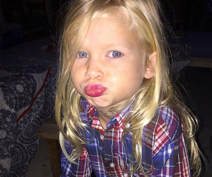 Jessica Simpson's little girl, Maxie is too cute for words.