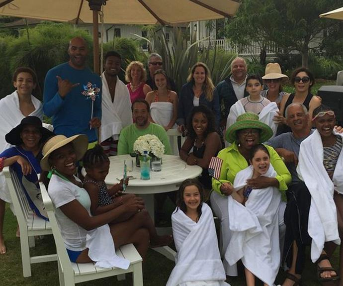 Oprah was all kinds of fabulous as she hosted a pool party with her loved ones.