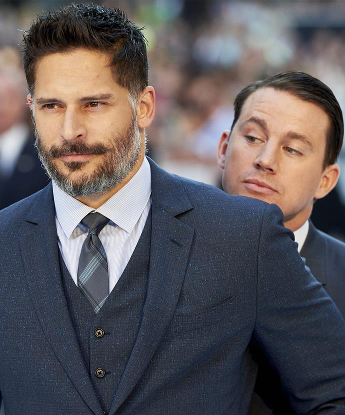"""Joe and Channing are firm friends - or as their Aussie alter-egos would say, """"best mates""""."""