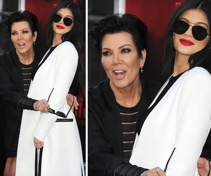 A case of too much contouring or something more? Kylie's taut complexion and chiselled jawline, raised more than a few eyebrows when she attended the premiere of *The Gallows* in LA with mother Kris Jenner in July.
