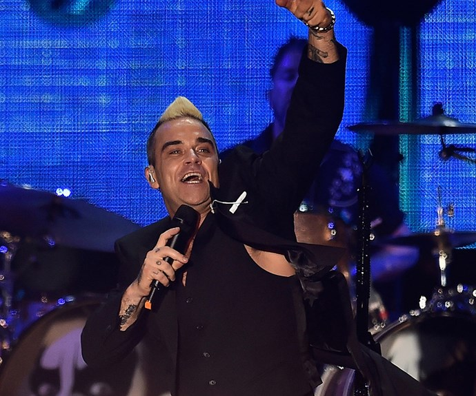 Punters were treated with hits from British singer Robbie Williams.