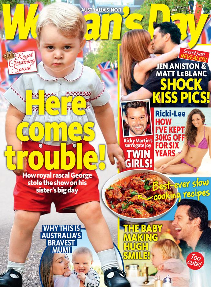 Pick up this week's issue of *Woman's Day* to read all about Sandy's hot new romance!