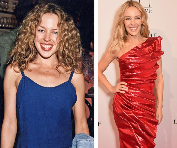 We should be so lucky to look as Kylie Minogue [at 47-years-old!](http://www.womansday.com.au/celebrity/australian-celebrities/happy-birthday-to-the-original-showgirl-kylie-minogue-turns-47-12698) While the bouncy curls and freckles she rocked so well in the Eighties (L) may be a thing of the past, Miss Minogue's style evolution has been seriously inspiring.