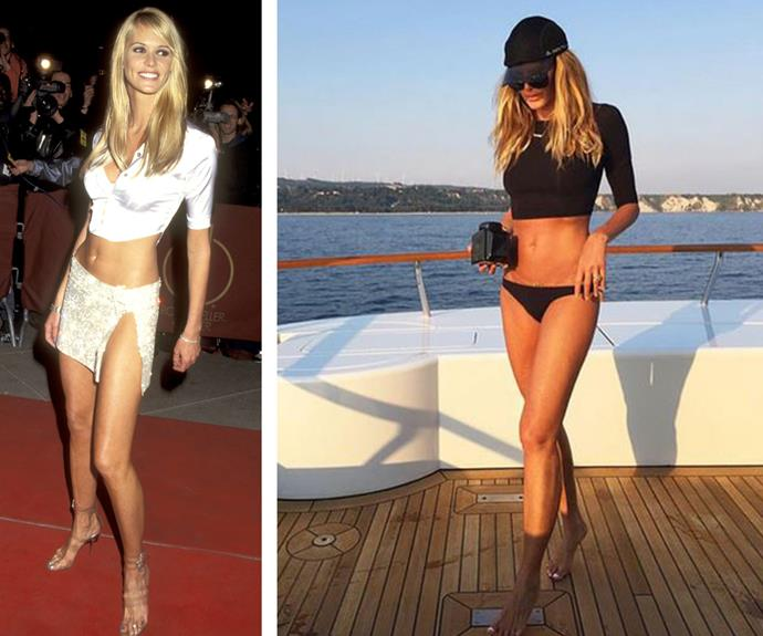 There's a reason Elle Macpherson has been dubbed The Body and honestly, it's almost criminal how insane the 51-year-old looks these days! The supermodel recently shared this snap of herself kicking back in a black two-piece bikini and she looks just as fit and fab now as she did in 1995 (R).
