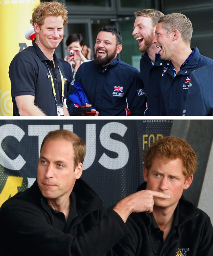 Prince Harry with the British team at the 2014 games, which were held in London. No word whether William will be attending the event, but there's no doubt he'll be supporting his younger brother's charitable endeavors in any capacity possible.