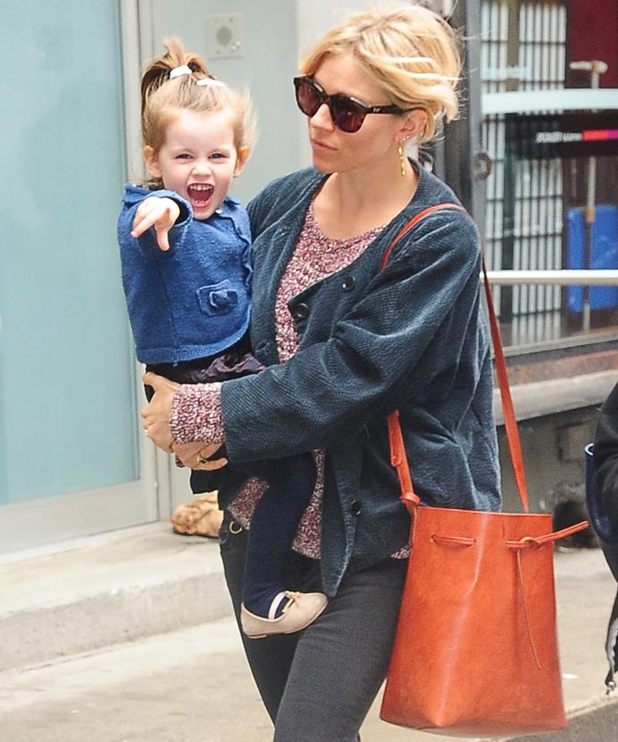 Sienna and Tom's daughter, Marlowe Ottoline Layng Sturridge, now three, definitely has her parents good looks and charisma.