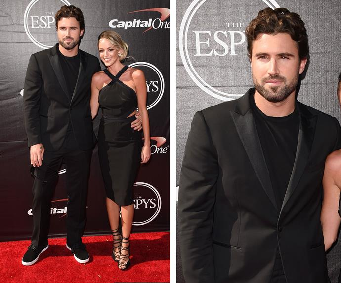 Caitlyn's son Brody looked dashing in black! While his girlfriend Kaitlynn Carter smouldered in a chic LBD.