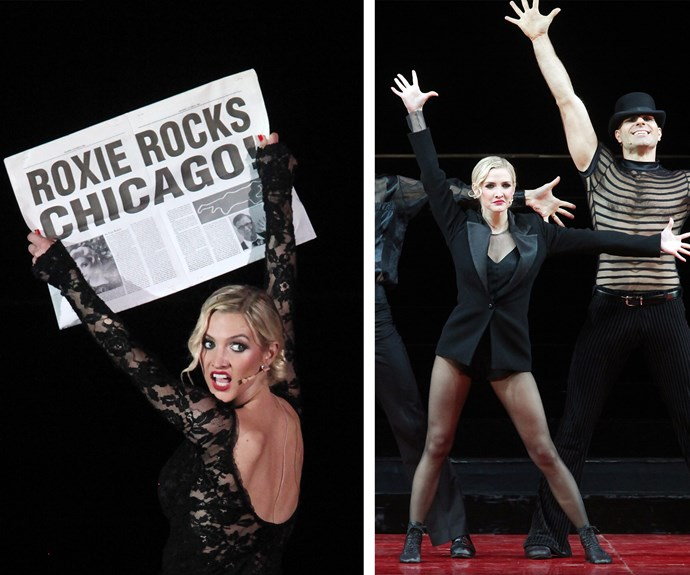 Ashlee Simpson made her Broadway debut as Roxie Hart in 2009. The *Pieces of Me* singer razzle dazzled audiences alongside co-star and *True Blood* actor, Stepher Moyer.