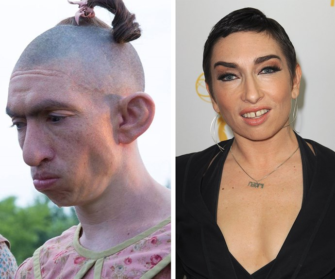 Naomi Grossman portrays the beloved, albeit the clinically insane Pepper on *American Horror Story*. The 40-year-old actress is unrecognisable when compared to her small-screen counterpart.