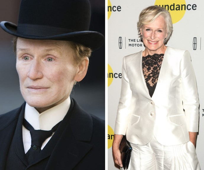 """Glenn Close landed an Oscar nomination after her portrayal of Albert Nobbs. During an interview, Glenn revealed, """"I cried when I first saw myself as a man."""""""