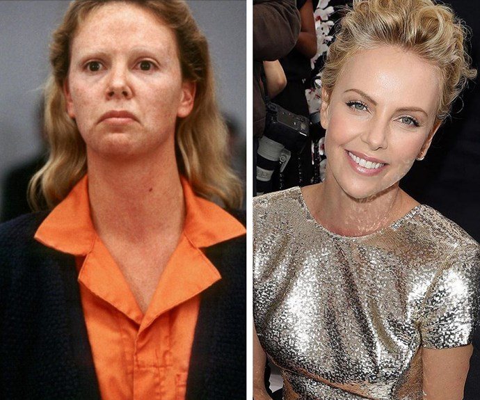 """Charlize Theron won the 2003 Oscar for her phenomenal role as Aileen Wuornos in *Monster*. """"I'm very proud of it. We couldn't sell that movie to save our lives—we were going to sign a deal to just release it on video. A lot of people didn't want to buy in to how horrific her story was,"""" the starlet shared during an interview with *Esquire*"""