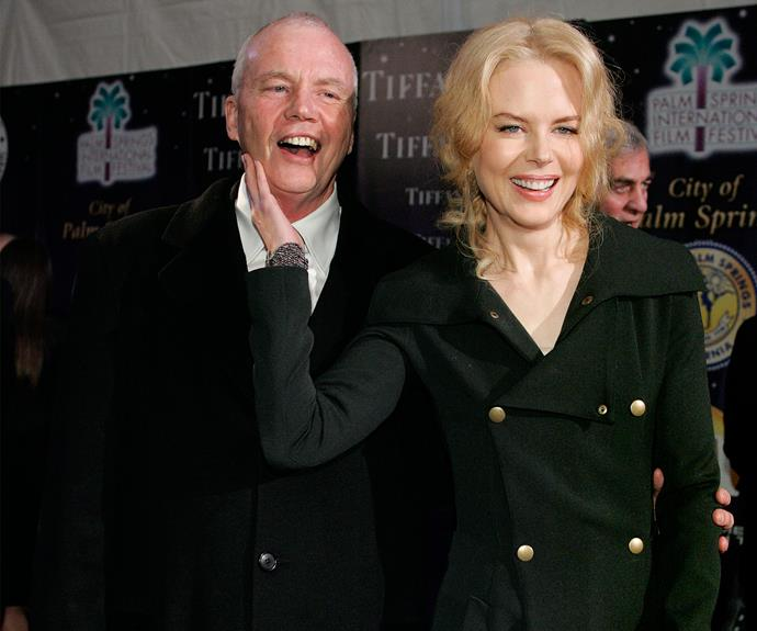 In happier times: Nicole with her beloved late father, Anthony Kidman, who tragically passed away last year.