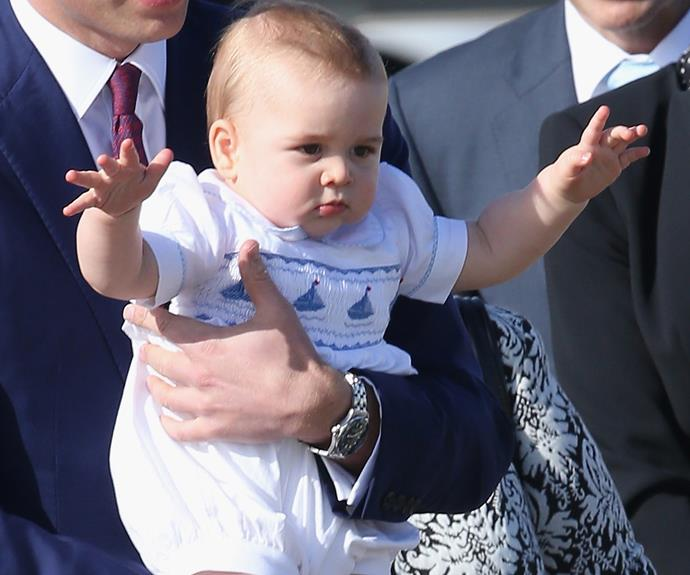 We definitely see the tot taking after his papa. Apparently prankster Wills would flush shoes down toilets, threaten to behead his friends in the Tower of London and had a habit of pressing palace panic buttons. Wonder if George will follow suit?