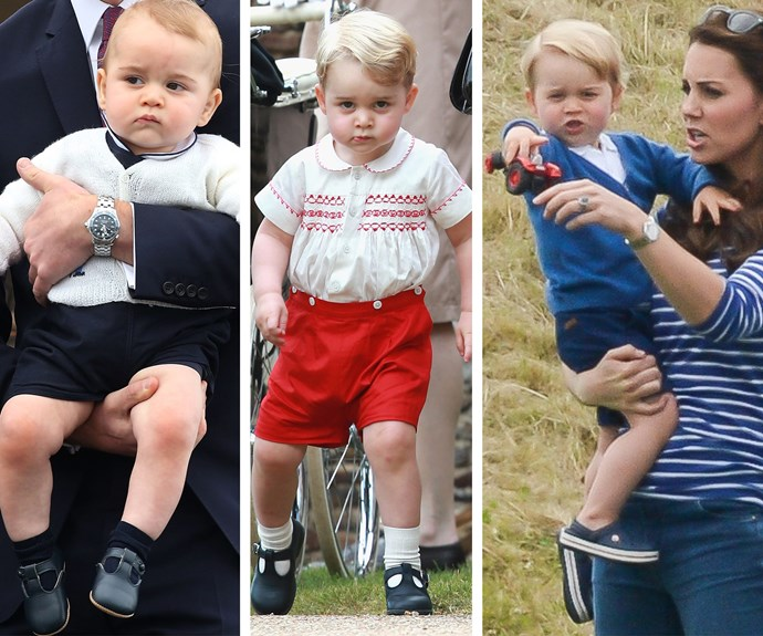 Prince George, future King of England, current King of the Sassy Face. Bow down!