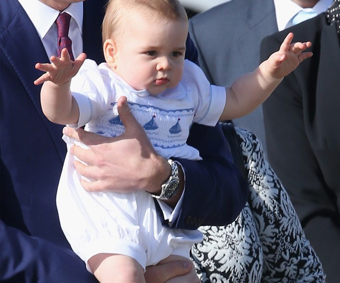 Vintage Prince George during his tour of Australia and New Zealand last year. This boy is the ruler of our hearts...