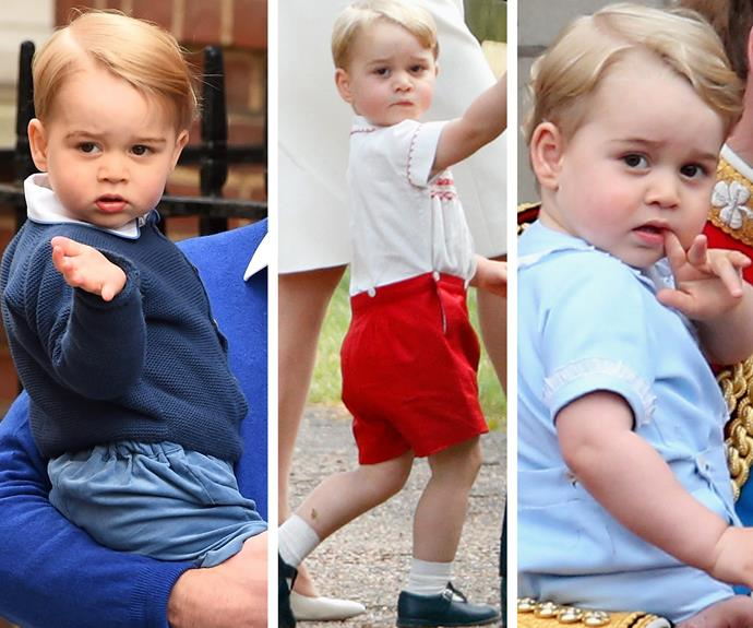 "According to Uncle Harry, George ""looks like a young Winston Churchill."" While Wills sees himself and his younger brother. Either way, little George has mastered his best angles."