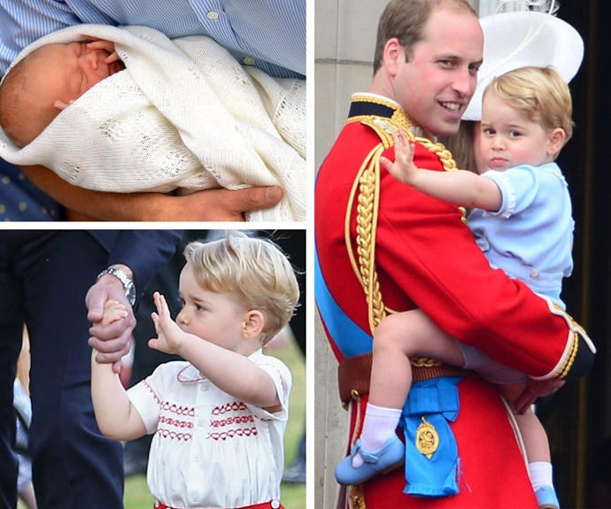 From day dot, this kid has mastered the royal wave.