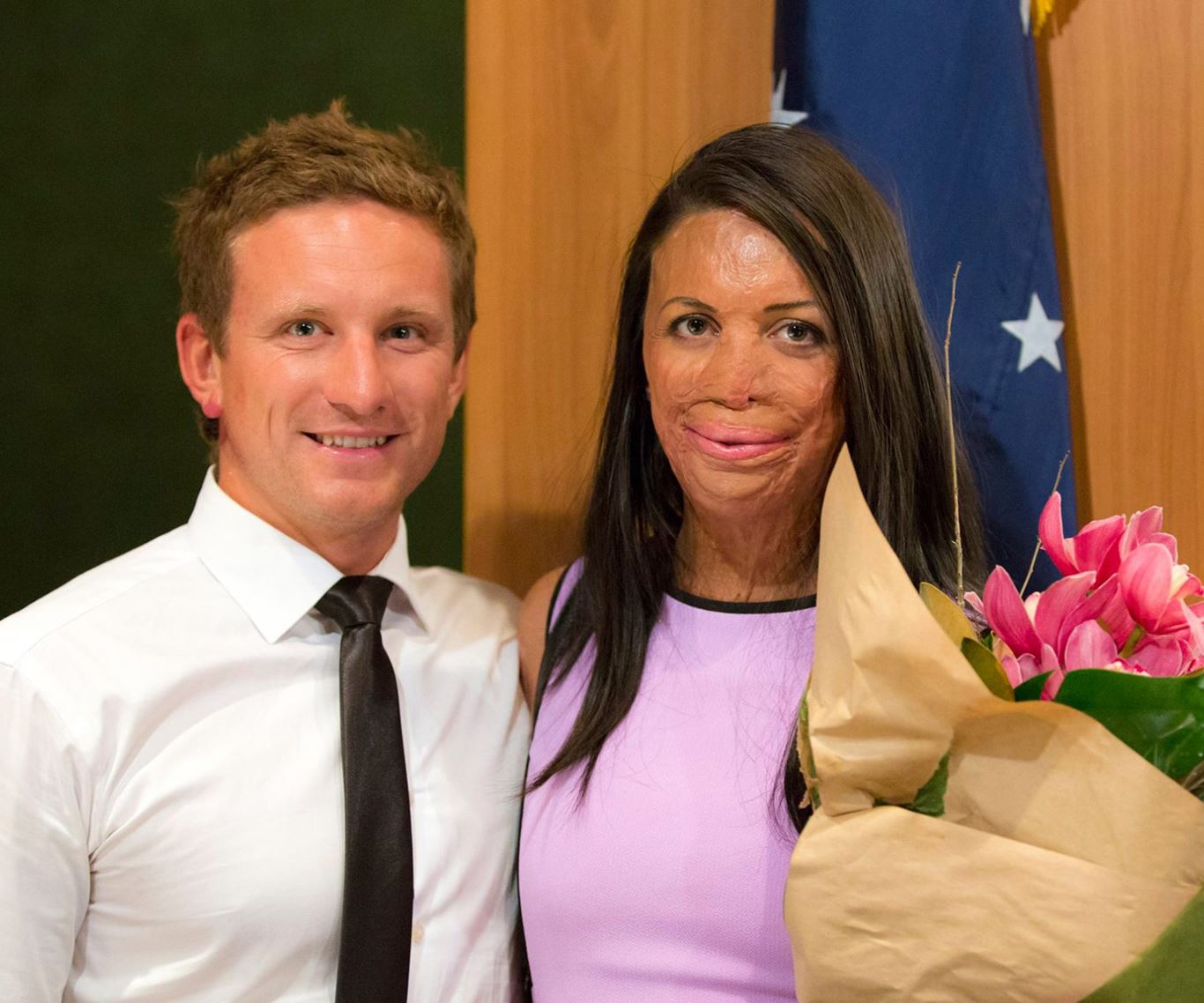 "In pictures: Turia Pitt and Michael Hoskin's love story:Australia's toughest survivor, Turia Pitt and her lovely beau, Michael Hoskin get their happily ever after. The pair announced their engagement to [*The Australian Women's Weekly Online*](http://www.aww.com.au/latest-news/in-the-mag/turia-pitt-engaged-21444), with Michael admitting, ""When Turia was in intensive care four years ago, I bought a diamond ring."""