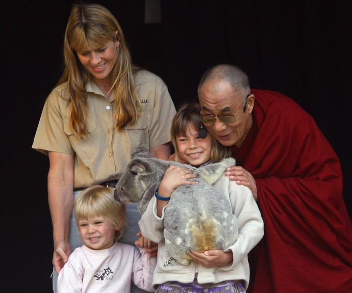 Bindi has always been clear that never wants want her dad's passion to end. Here she holds a koala as she meets the one and only Dalai Lama.