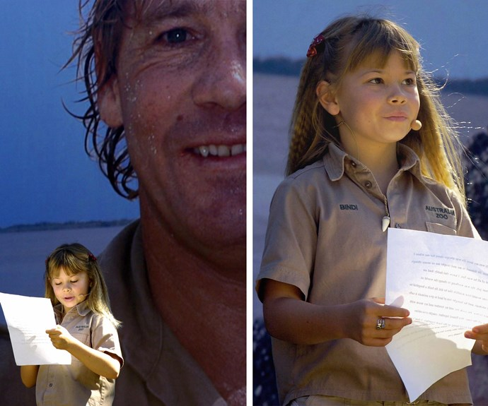 "Our heart broke for the family when Steve tragically died in 2006. Bindi was only eight years old when she delivered a moving speech about her daddy, her hero. Looking back at the loss she said, ""that kind of sadness never goes away. It's like losing a piece of your heart that you never get back."""