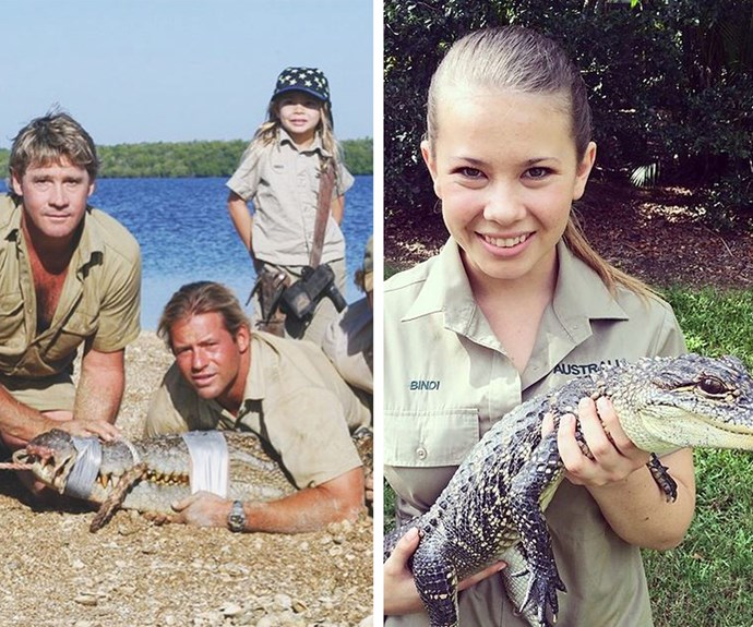 The wildlife warrior is every bit her father's girl. She used to watch her dad catch crocs and now she is following in his footsteps - with his signature smile and passion.