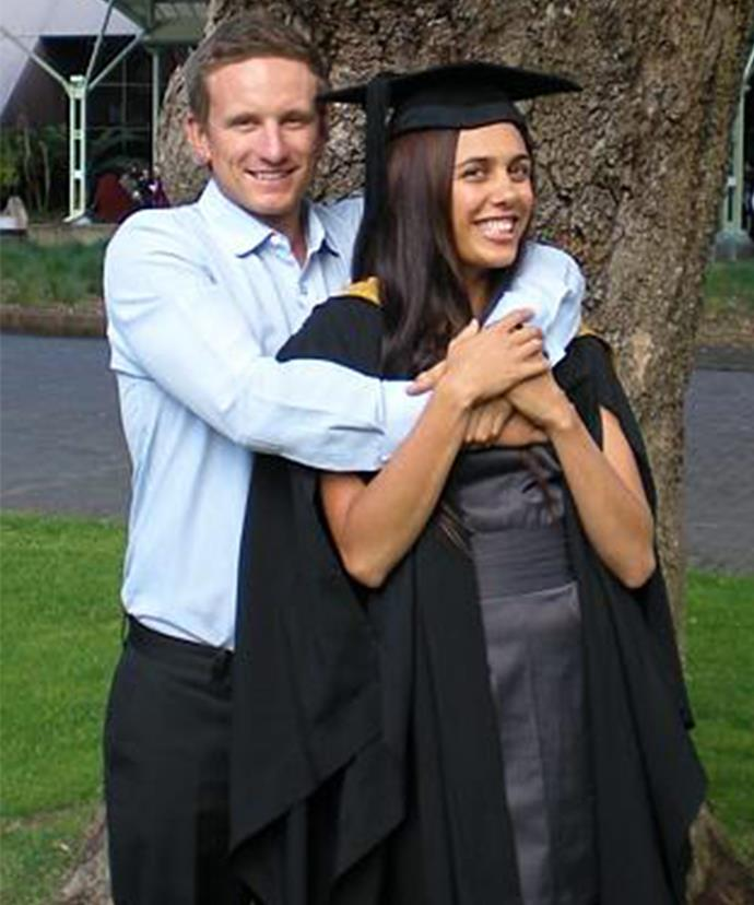 Michael was so proud of Turia on her graduation.