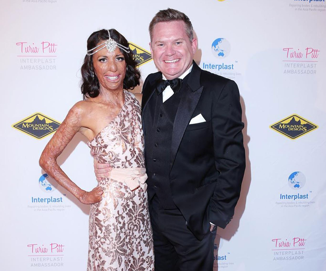 In pictures: Turia Pitt and Michael Hoskin's love story:The ever-glamorous Turia with respected reporter Michael Usher.