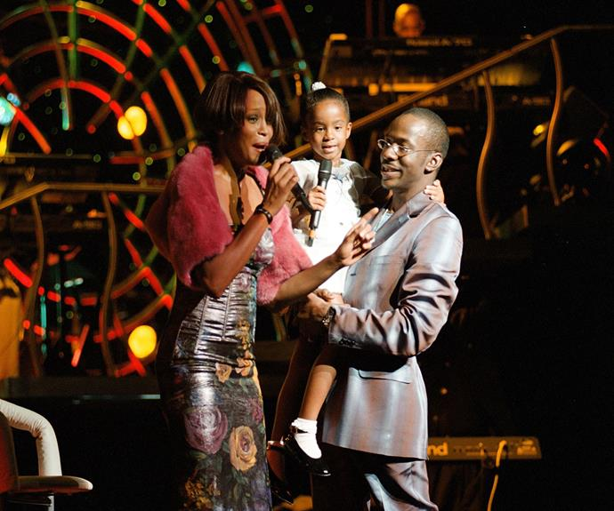 Bobby Brown with his former-wife Whitney and daughter, Bobbi Kristina - who he lovingly called, Krissy.