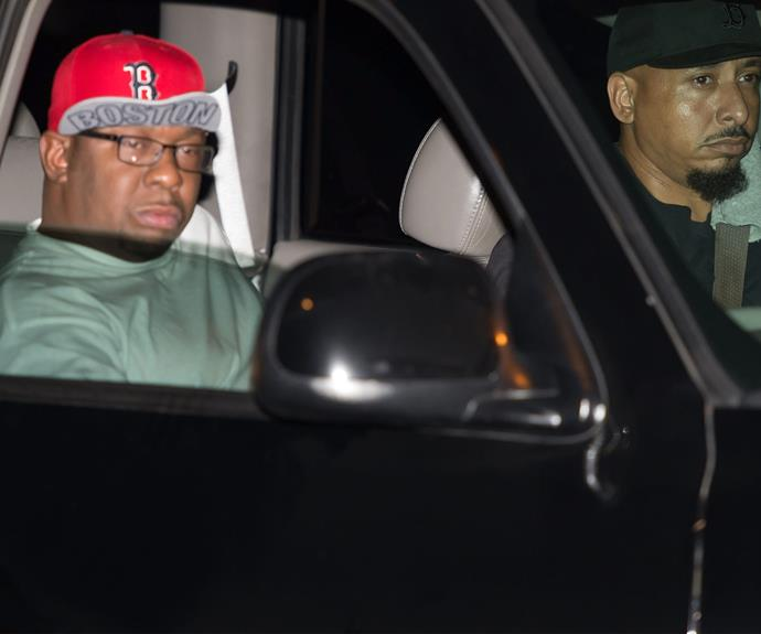 Bobby Brown is pictured outside the Peachtree Christian Hospice after Bobbi Kristina Brown passed away on July 26, 2015 in Duluth, Georgia.