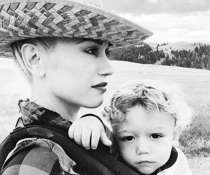 Howdy! We're feeling hella good over Gwen Stefani and son Apollo coolest summer holiday snaps in Montana.