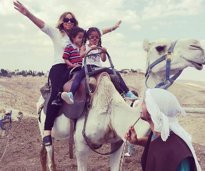 Mariah Carey loves a yacht and she adores sailing ... but she is mixing up her summer lovin' with some camel riding! While Mama Mimi is sold, it looks like Monroe and Moroccan aren't too sure.