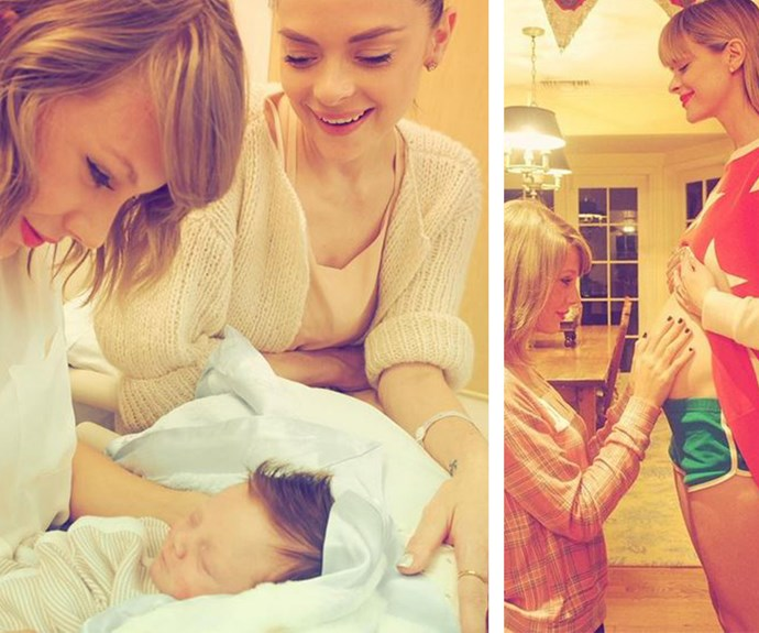 "Following the birth of Jamie King's second child, Leo Thames, in July last year, Taylor Swift has finally had a chance to cuddle her gorgeous little godson! ""Meeting my boy,"" the popstar wrote alongside this touching snap."
