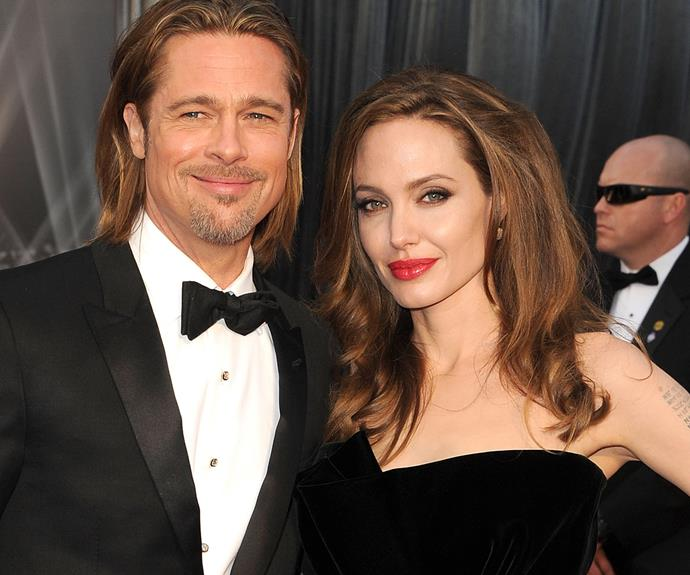 Angelina Jolie and Brad Pitt met on the set of their 2005 film *Mr and Mrs Smith*.