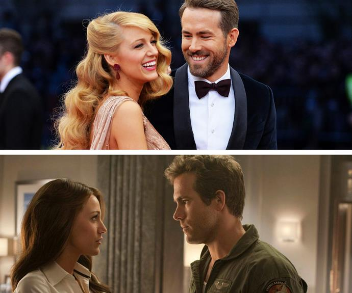 Blake Lively and Ryan Reynolds win the award for the funniest couple (seriously, go to their Instagram accounts). The parents to baby James met while filming *Green Lantern* and married in 2012.